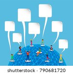 people connected to social... | Shutterstock .eps vector #790681720