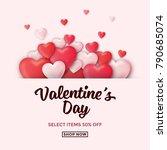 valentines day sale background... | Shutterstock .eps vector #790685074