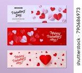 vector happy valentines day... | Shutterstock .eps vector #790686973