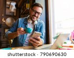 freelancer working at the... | Shutterstock . vector #790690630