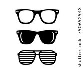 black sunglasses set | Shutterstock .eps vector #790692943