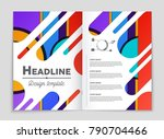 abstract vector layout... | Shutterstock .eps vector #790704466
