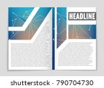 abstract vector layout... | Shutterstock .eps vector #790704730