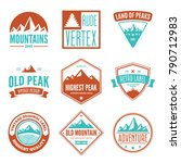 mountain logotypes with hill... | Shutterstock .eps vector #790712983