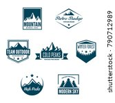 mountain logotypes with hill... | Shutterstock .eps vector #790712989