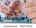 repair of printed circuit... | Shutterstock . vector #790713916