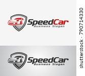 speed car logo template | Shutterstock .eps vector #790714330