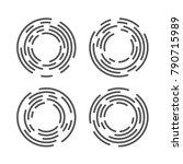 abstract geometric vortex set.... | Shutterstock .eps vector #790715989