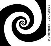 hypnotic psychedelic spiral... | Shutterstock .eps vector #790715998