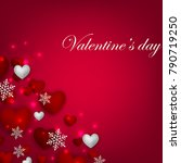 happy valentines day background ... | Shutterstock .eps vector #790719250