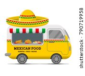 mexican food street caravan... | Shutterstock .eps vector #790719958