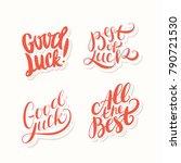 good luck. all the best. best... | Shutterstock .eps vector #790721530