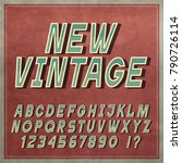 vintage font  retro style... | Shutterstock .eps vector #790726114