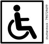 disability icon vector  | Shutterstock .eps vector #790729699