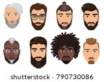 colorful cartoon hipsters... | Shutterstock .eps vector #790730086