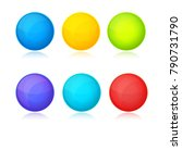 colored buttons pack vector | Shutterstock .eps vector #790731790