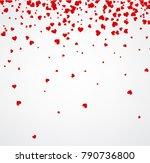 white love valentine's... | Shutterstock .eps vector #790736800