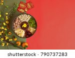 box with sweet snacks  blooming ... | Shutterstock . vector #790737283
