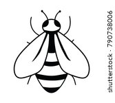 logo of the bee. black and... | Shutterstock .eps vector #790738006