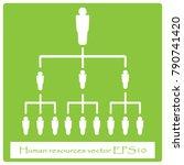 human resources business... | Shutterstock .eps vector #790741420