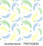 brazil carnival seamless... | Shutterstock .eps vector #790742830