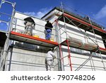 painting works  facade painting | Shutterstock . vector #790748206