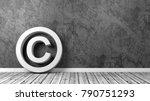 white copyright symbol shape on ... | Shutterstock . vector #790751293
