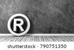 white trademark symbol shape on ... | Shutterstock . vector #790751350