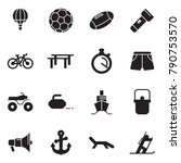 solid black vector icon set  ... | Shutterstock .eps vector #790753570