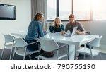 businessman giving presentation ...   Shutterstock . vector #790755190