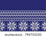 winter festive christmas... | Shutterstock .eps vector #790755250