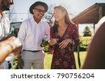 group of multiracial friends... | Shutterstock . vector #790756204
