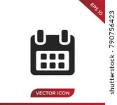 calendar icon vector  date... | Shutterstock .eps vector #790756423