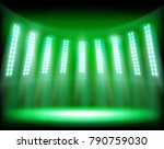 the show on the stadium. vector ... | Shutterstock .eps vector #790759030