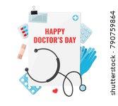 happy doctor day concept | Shutterstock .eps vector #790759864