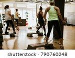 high intensity interval... | Shutterstock . vector #790760248