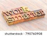work smarter word abstract in... | Shutterstock . vector #790760908