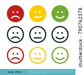 emoticon circle colorful set.... | Shutterstock .eps vector #790762378