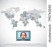 network vulnerability   virus ... | Shutterstock .eps vector #790763050