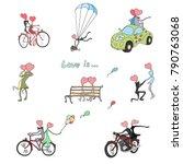 painted children's drawings for ... | Shutterstock .eps vector #790763068