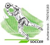 goalkeeper  soccer  football... | Shutterstock .eps vector #790765183