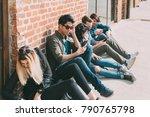 group of friends multiethncit... | Shutterstock . vector #790765798