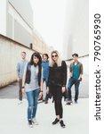 group of friends multiethnic... | Shutterstock . vector #790765930