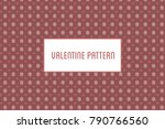 vector hearts and flowers... | Shutterstock .eps vector #790766560