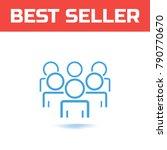 community member concept.... | Shutterstock .eps vector #790770670