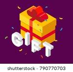 vector isometric illustration... | Shutterstock .eps vector #790770703