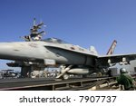 F/A-18C Hornet Launches Aboard the Nuclear Aircraft Carrier, USS Enterprise