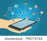 the concept of social... | Shutterstock .eps vector #790773733