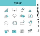 vector set of education icons ... | Shutterstock .eps vector #790776220