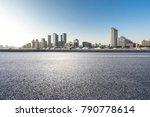 empty urban road and modern...   Shutterstock . vector #790778614